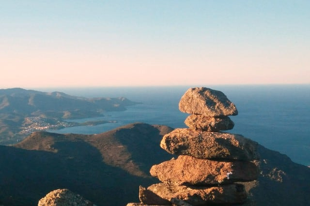 View of mountain and sea horizon from Sant Pere de Rodes 640x425