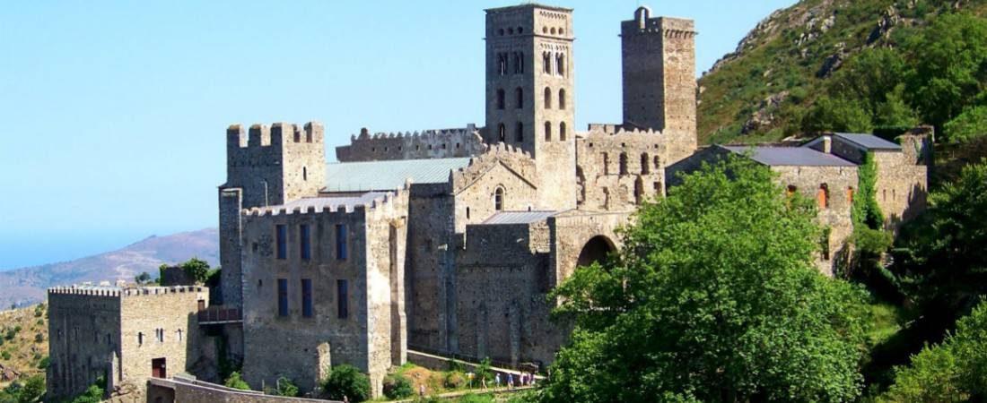 Monastery of Sant Pere de Rodes in Costa Brava 1100x450